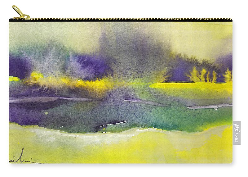 Landscapes Carry-all Pouch featuring the painting Dawn 20 by Miki De Goodaboom