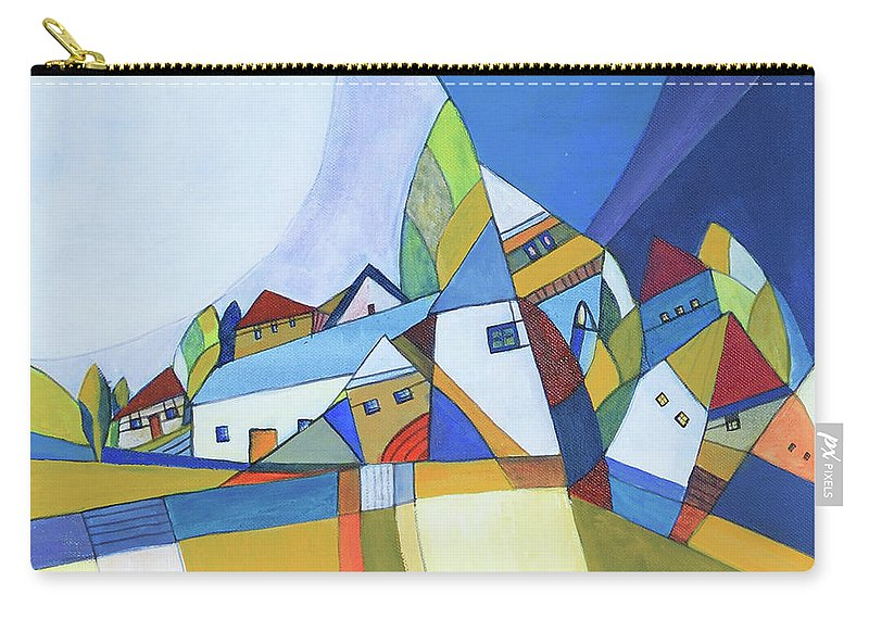 Acrylic Carry-all Pouch featuring the painting Dawn by Aniko Hencz