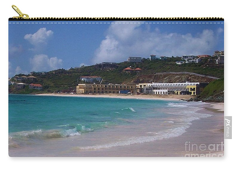 Dawn Beach Carry-all Pouch featuring the photograph Dawn Beach by Debbi Granruth