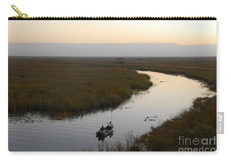 Fishing Carry-all Pouch featuring the photograph Dawn Everglades Florida by David Lee Thompson