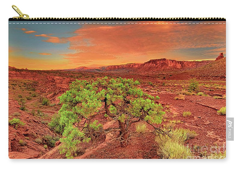 North America Carry-all Pouch featuring the photograph Dawn Light Capitol Reef National Park Utah by Dave Welling