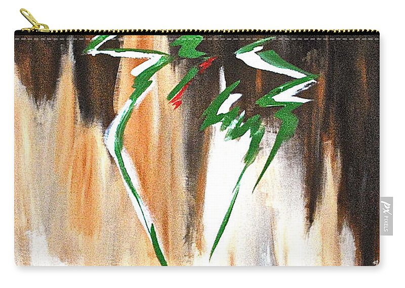 Abstract By Herschel Fall Carry-all Pouch featuring the painting Dawn Of An New Day by Herschel Fall