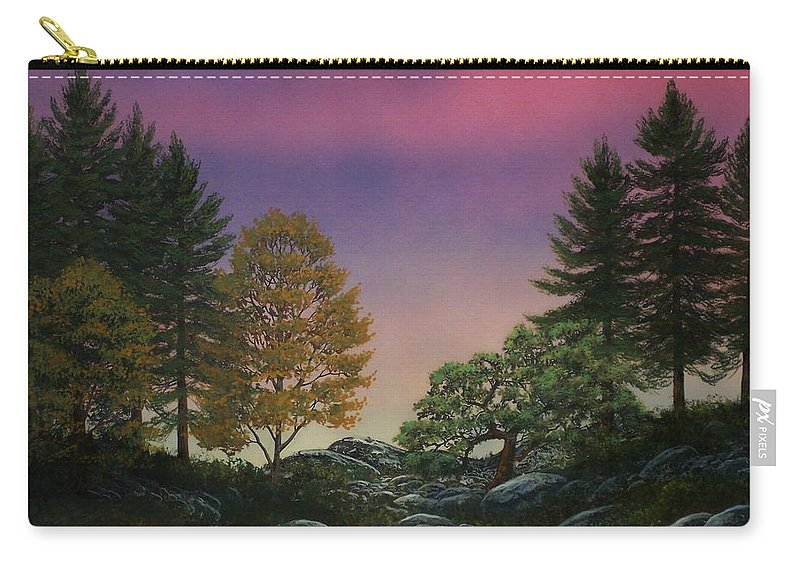 Mountains Carry-all Pouch featuring the painting Dawn Of Day by Frank Wilson