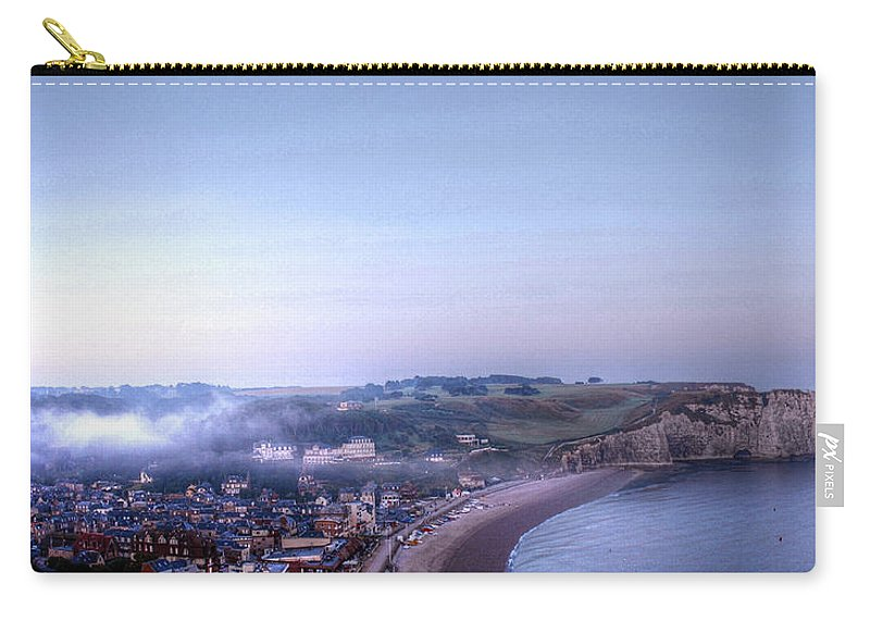 Church Carry-all Pouch featuring the photograph Dawn Of Etretat by Jane Svensson