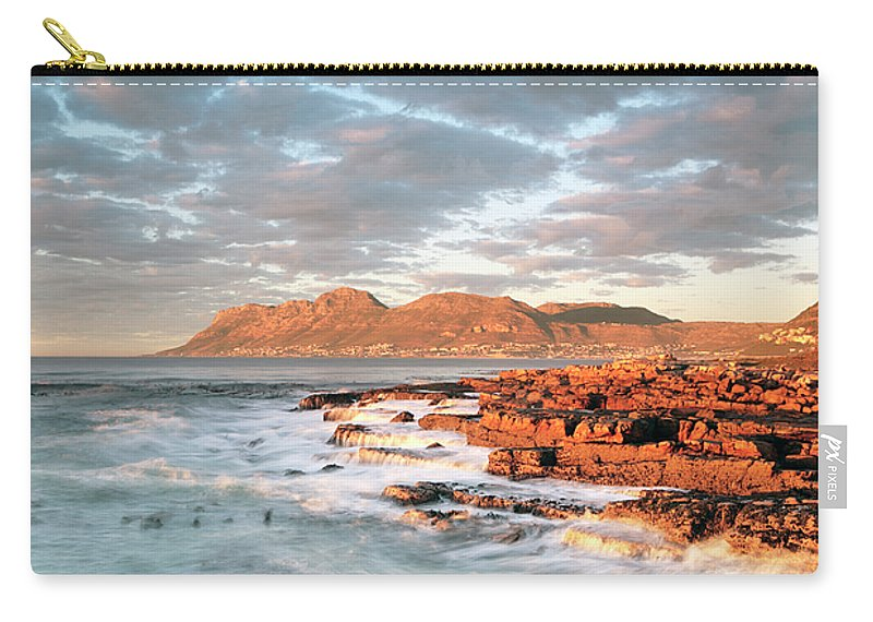 Dawn Carry-all Pouch featuring the photograph Dawn Over Simons Town South Africa by Neil Overy