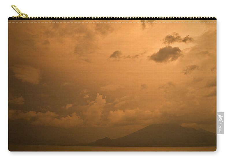 Central Carry-all Pouch featuring the photograph Dawn Over The Volcano 3 by Douglas Barnett
