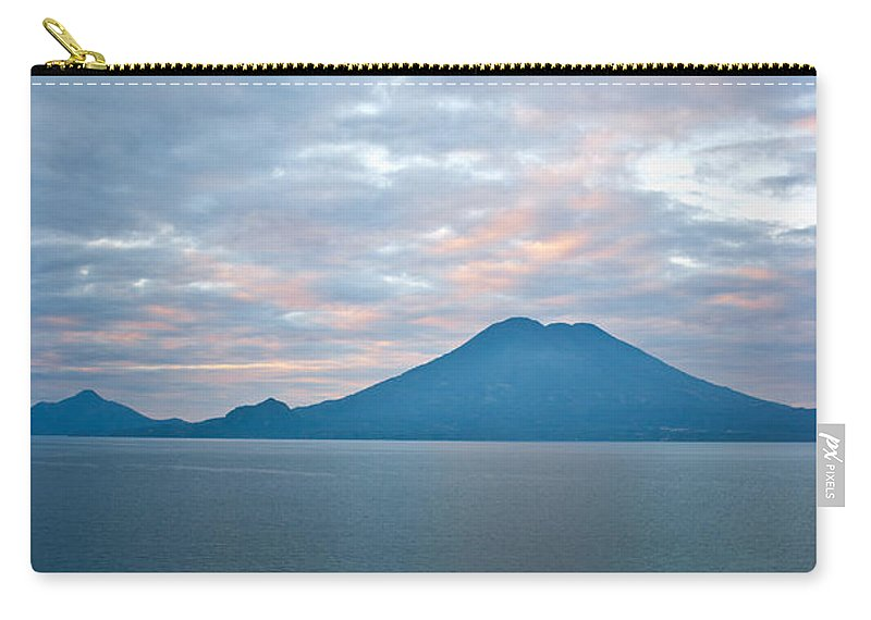 Central Carry-all Pouch featuring the photograph Dawn Over The Volcano 4 by Douglas Barnett