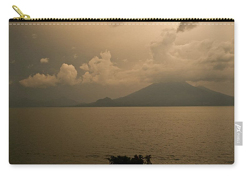 Dawn Carry-all Pouch featuring the photograph Dawn Over The Volcano by Douglas Barnett