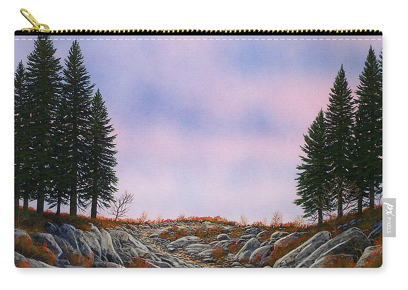 Landscape Carry-all Pouch featuring the painting Dawn Pacific Crest Trail by Frank Wilson