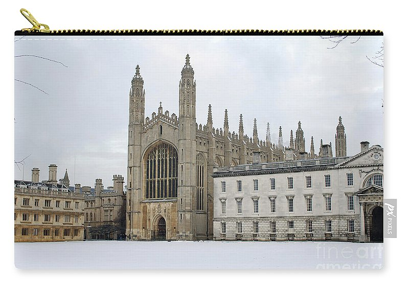 Chapel Carry-all Pouch featuring the photograph Dawn Sunshine Hit Kings College Chapel On Christmas Eve. by Richard Wareham