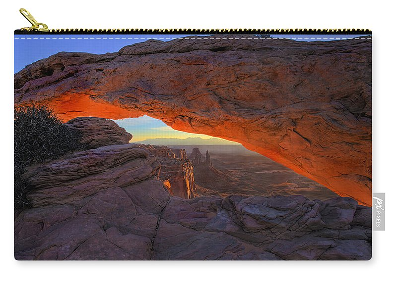 Mesa Arch Carry-all Pouch featuring the photograph Dawns Early Light by Mike Dawson