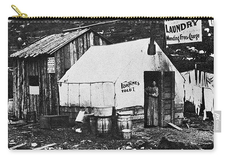 1900 Carry-all Pouch featuring the photograph Dawson City, C1900 by Granger
