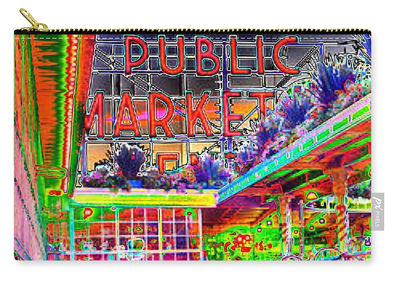 Seattle Carry-all Pouch featuring the photograph Day At The Market by Tim Allen