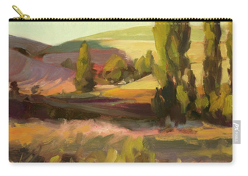 Country Carry-all Pouch featuring the painting Day Closing by Steve Henderson