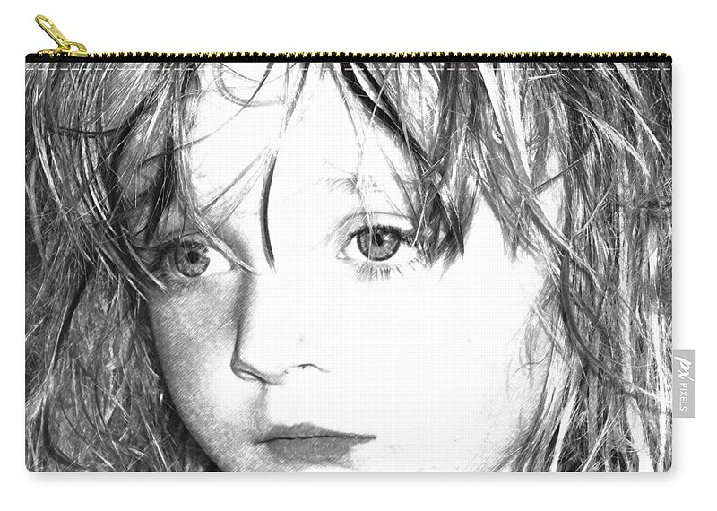 Day Dreaming Art Carry-all Pouch featuring the mixed media Day Dreaming by P Donovan