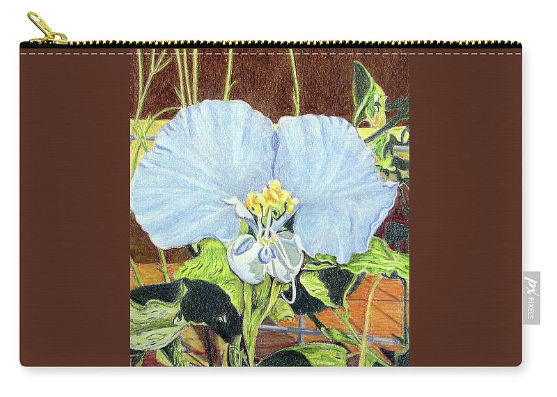 Fuqua - Artwork Carry-all Pouch featuring the drawing Day Flower by Beverly Fuqua