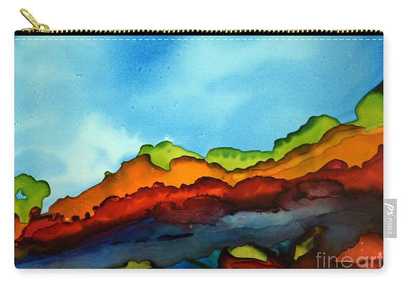 Landscape Carry-all Pouch featuring the painting Day Hike by Beth Kluth