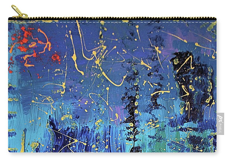 Blue Carry-all Pouch featuring the painting Day Light Saving Time by Pam Roth O'Mara