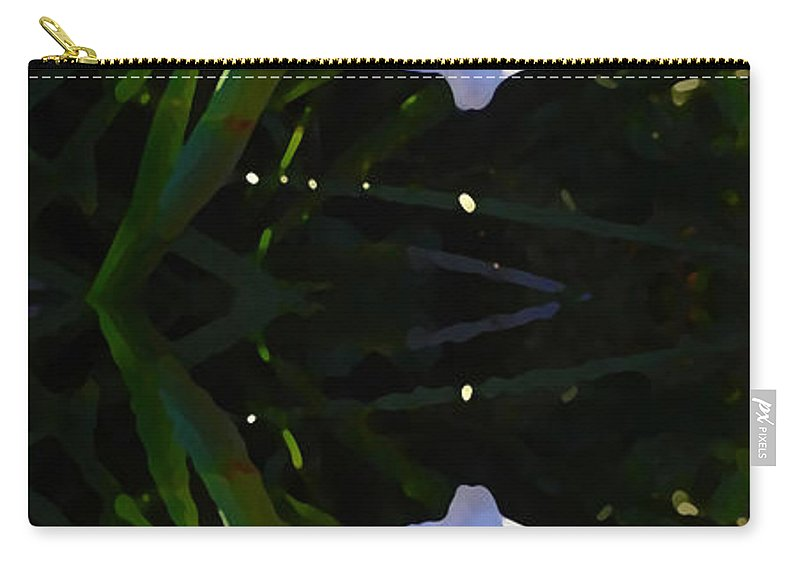 Daylily Carry-all Pouch featuring the painting Day Lily Reflection by Amy Vangsgard