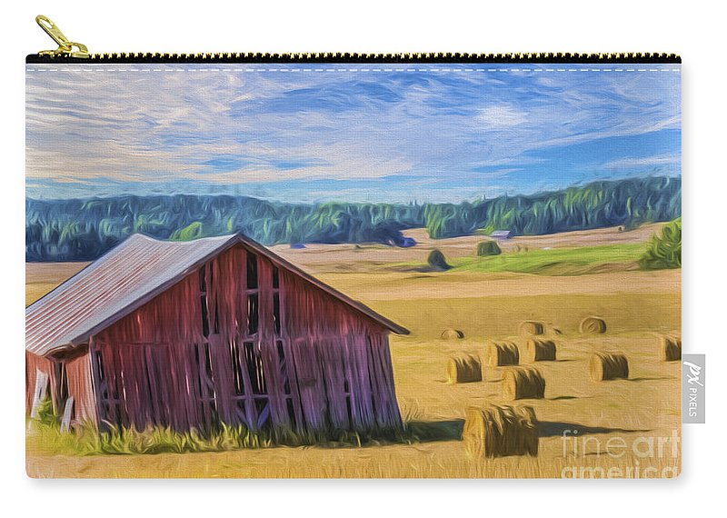 Art Carry-all Pouch featuring the painting Day Of August by Veikko Suikkanen