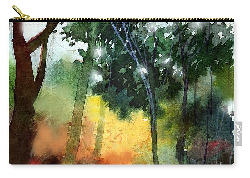 Water Color Carry-all Pouch featuring the painting Daybreak by Anil Nene