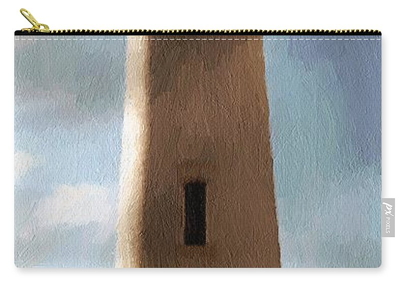 Lighthouse Carry-all Pouch featuring the painting Daybreak At Pigeon Point by RC DeWinter