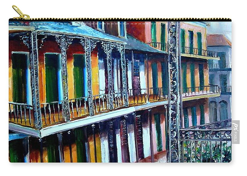 New Orleans Carry-all Pouch featuring the painting Daybreak On St. Ann Street by Diane Millsap