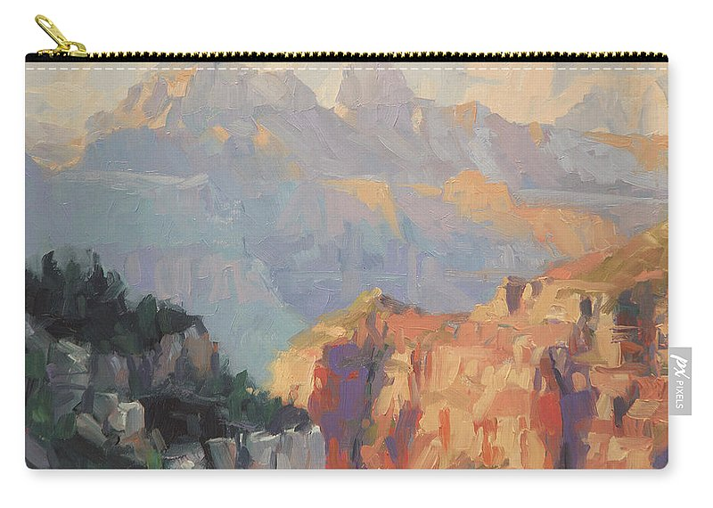 Grand Canyon Carry-all Pouch featuring the painting Daybreak by Steve Henderson