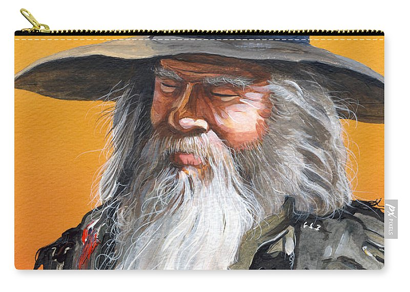 Fantasy Art Carry-all Pouch featuring the painting Daydream Wizard by J W Baker