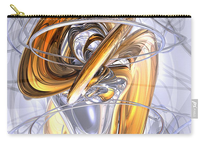 3d Carry-all Pouch featuring the digital art Daydreamers Abstract by Alexander Butler