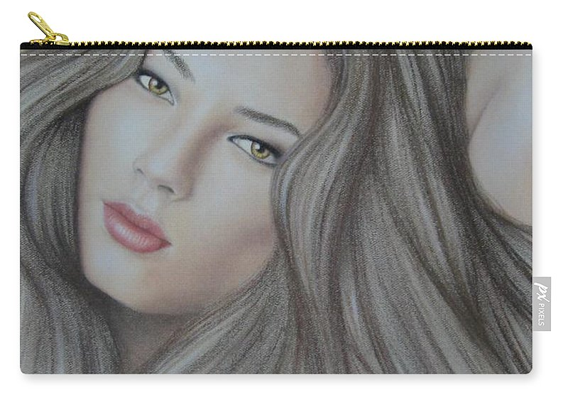 Woman Carry-all Pouch featuring the painting Daydreaming by Lynet McDonald