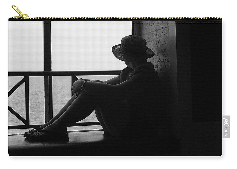 Black And White Carry-all Pouch featuring the photograph Daydreaming by Robert Meanor