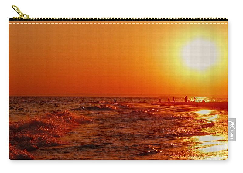 Sunset Carry-all Pouch featuring the photograph Day's End by Kendall Eutemey