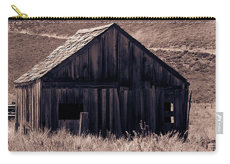 Bodie Carry-all Pouch featuring the photograph Days Long Gone by Leia Hewitt
