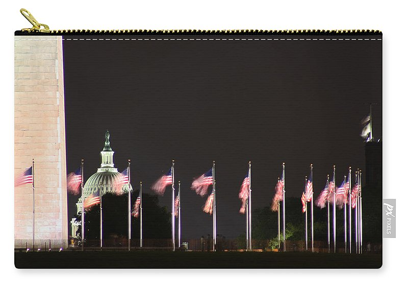 Washington Dc Carry-all Pouch featuring the photograph Dc At Night by Nancy Ingersoll