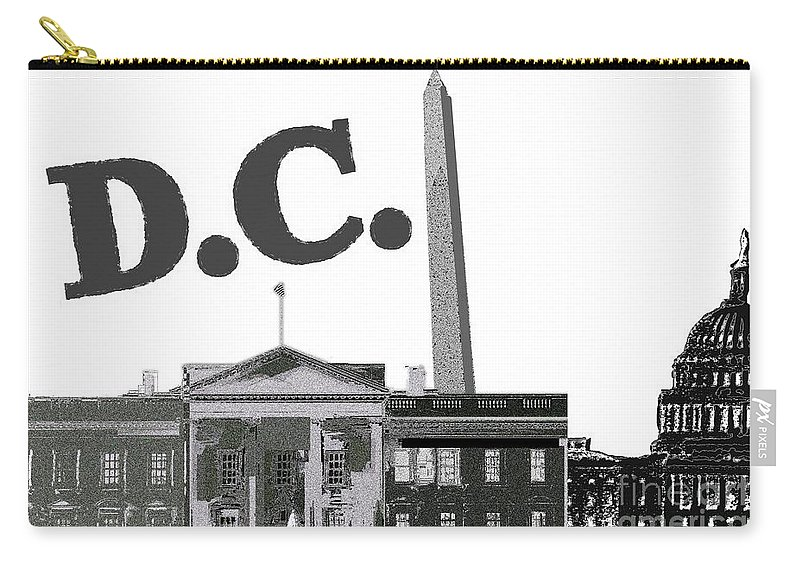 Dc On Edge Carry-all Pouch featuring the mixed media DC on Edge by Pharris Art