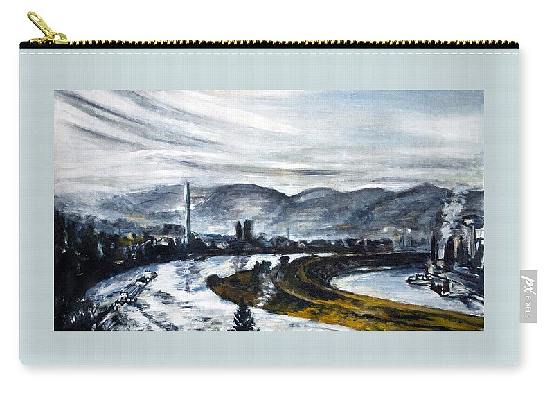 Landscape Carry-all Pouch featuring the painting DC by Pablo de Choros