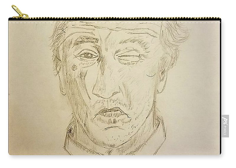Robert De Niro Carry-all Pouch featuring the drawing De Niro by Richard Howell