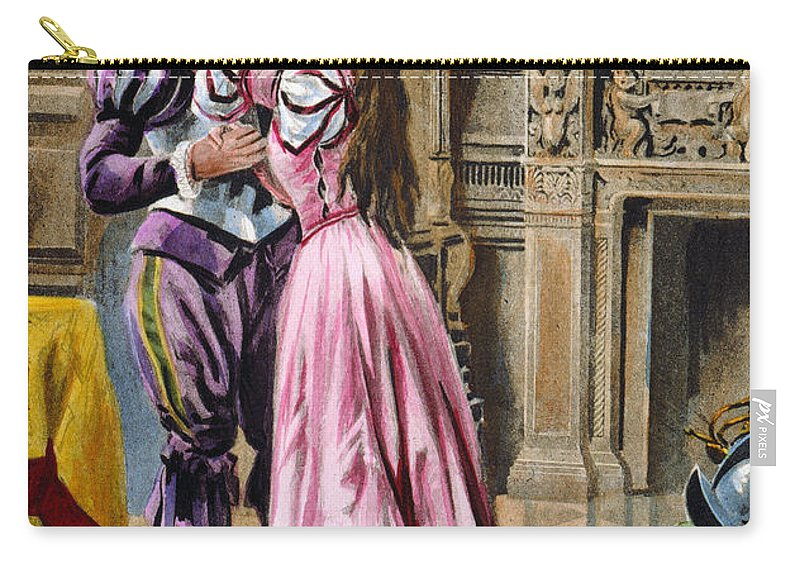 1539 Carry-all Pouch featuring the photograph De Soto & Isabella, 1539 by Granger