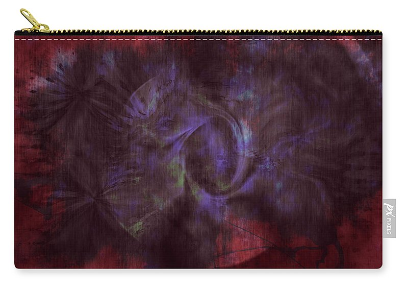 Abstract Art Carry-all Pouch featuring the digital art Dead Cities by Linda Sannuti