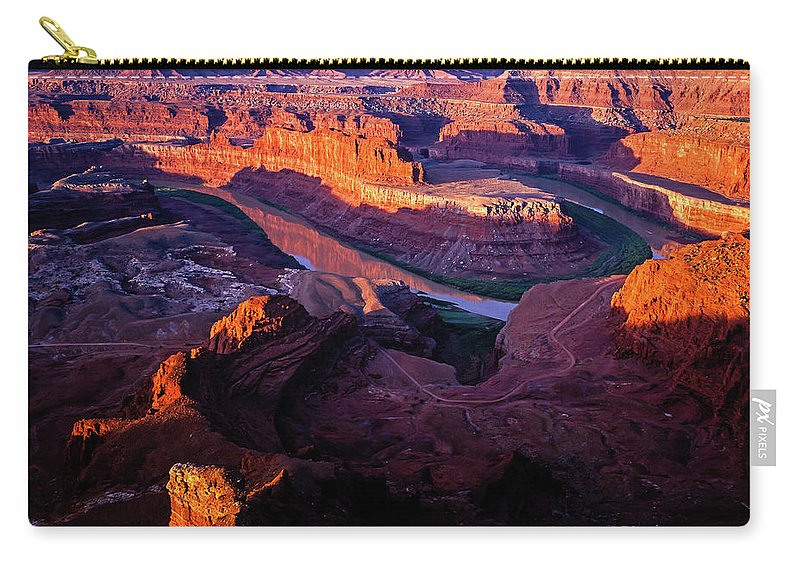 Colorado Plateau Carry-all Pouch featuring the photograph Dead Horse Point Sunrise by Tracy Knauer