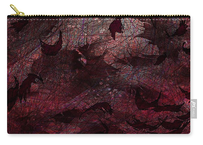 Abstract Carry-all Pouch featuring the digital art Dead Leaves by Rachel Christine Nowicki