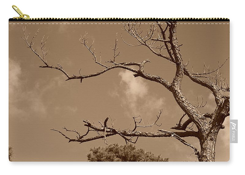 Sepia Carry-all Pouch featuring the photograph Dead Wood by Rob Hans
