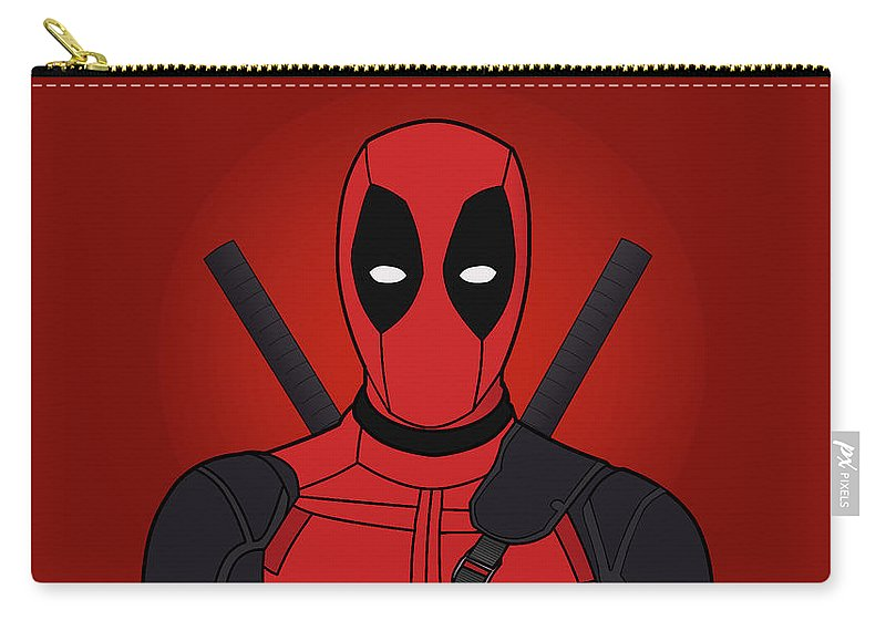Deadpool Wallpaper Comic Superhero Marvel Carry-all Pouch featuring the digital art Deadpool Wallpaper by