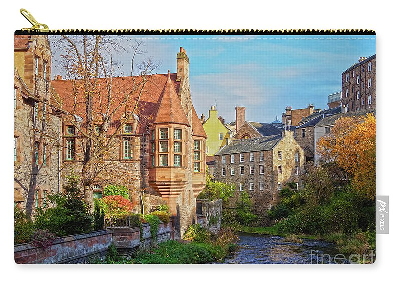 Europe Carry-all Pouch featuring the photograph Dean Village, Edinburgh, Scotland by Karol Kozlowski