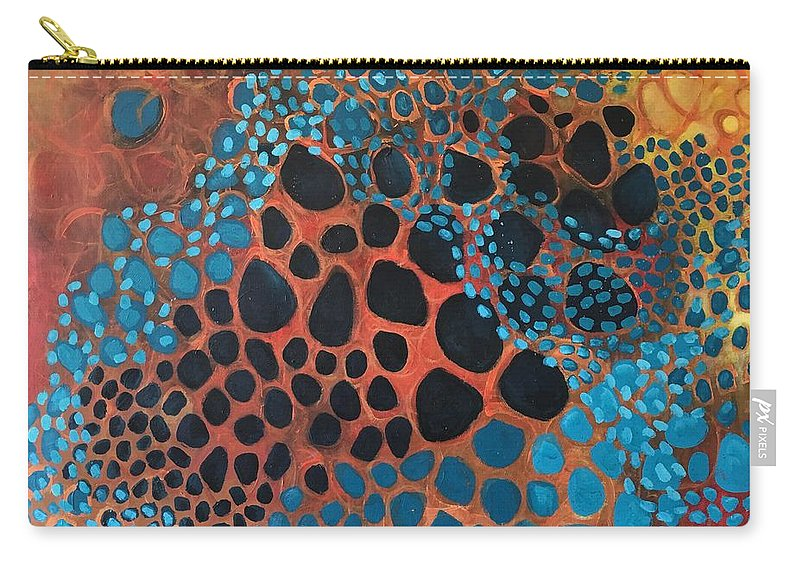 Abstract Carry-all Pouch featuring the painting Dear Sugar What Can I Learn From An Orange Sky? by Laurie Maves ART