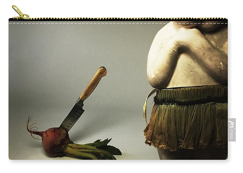Death Carry-all Pouch featuring the photograph Death Of A Vegetable by Subject Dolly