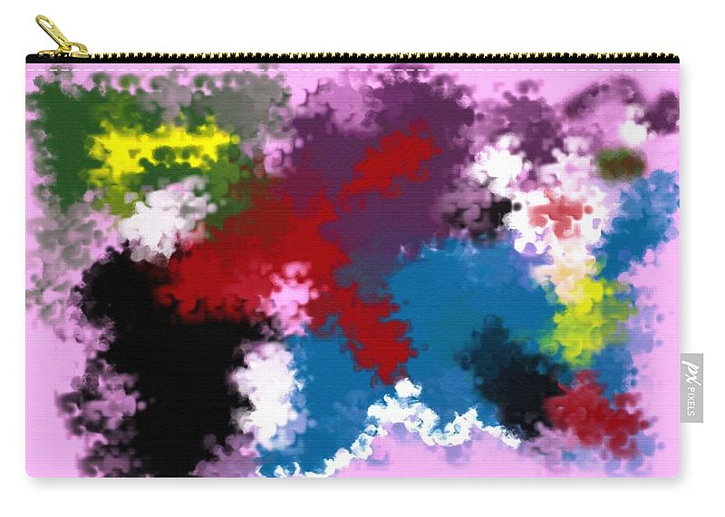 Abstract Carry-all Pouch featuring the digital art Death Of Discrimination by Donna Blackhall