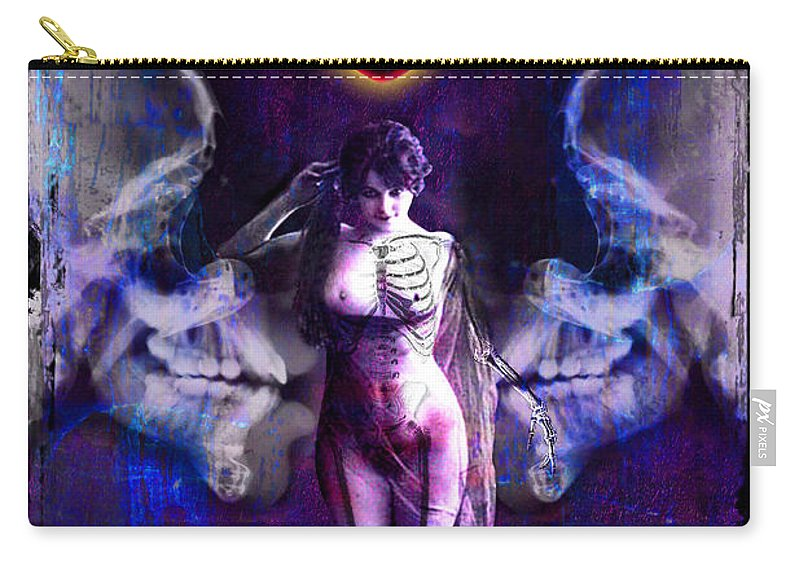Divine Carry-all Pouch featuring the digital art Death by Tammy Wetzel