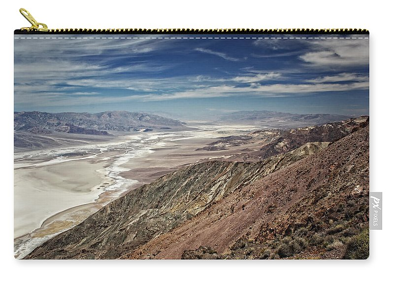Adventure Carry-all Pouch featuring the photograph Death Valley 10 by Ingrid Smith-Johnsen